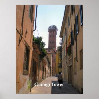 Guinigi Tower Lucca Print
