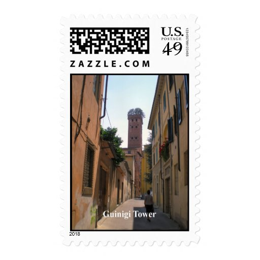 Guinigi Tower, Lucca - see the trees on the top Stamp