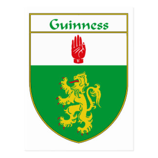 Guinness Coat of Arms/Family Crest Postcard