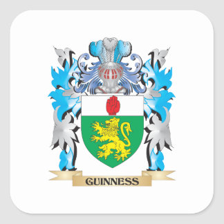 Guinness Coat of Arms - Family Crest Square Sticker