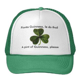 Guinness please clover trucker hat