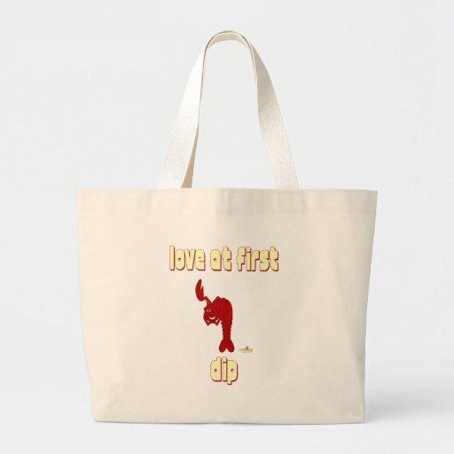 Guiño de amor rojo de la langosta en la primera in bolsa de mano