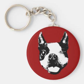 Guiño de Boston Terrier Llavero