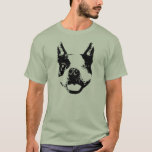 Guiño de Boston Terrier Playera