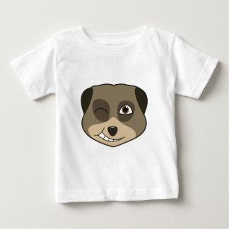 Guiño de diseño del meerkat playera de bebé