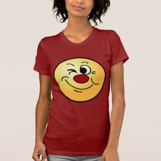 Guiño de la cara sonriente Grumpey Camisas