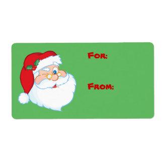 Guiño de la etiqueta de la etiqueta del regalo del etiquetas de envío
