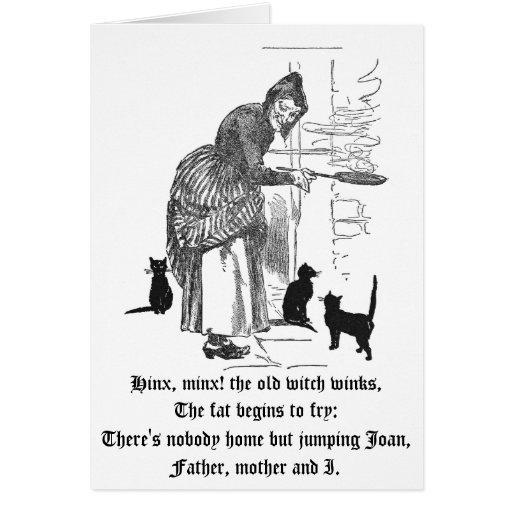 Guiño de la poesía infantil de la bruja tarjeta de felicitación