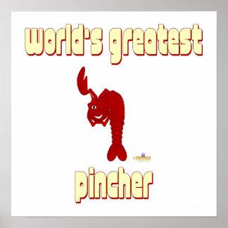 Guiño de Pincher más grande del mundo rojo de la l Posters