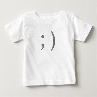 Guiño de smiley del Internet Playera De Bebé