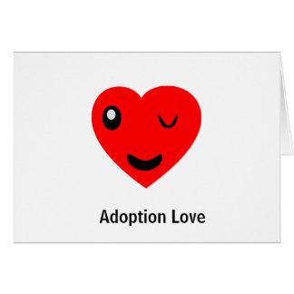Guiño del amor de la adopción tarjeta de felicitación