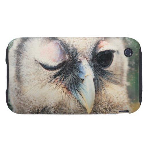 Guiño del búho tough iPhone 3 fundas