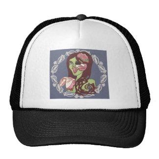 Guiño del chica del zombi gorras