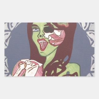 Guiño del chica del zombi rectangular altavoz