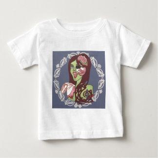 Guiño del chica del zombi playera de bebé