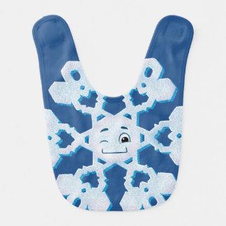 Guiño del copo de nieve baberos de bebé