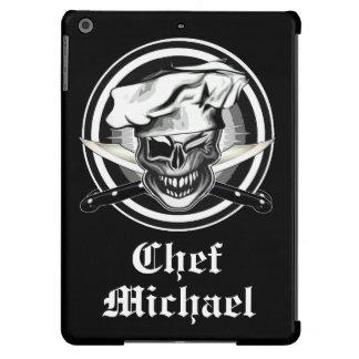 Guiño del cráneo del cocinero funda para iPad air