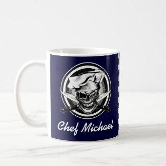 Guiño del cráneo del cocinero taza de café
