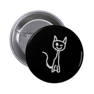 Guiño del gato gris pin