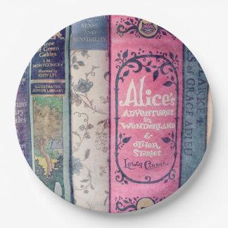 Guión/Alicia en la placa de papel del país de las Plato De Papel De 9 Pulgadas