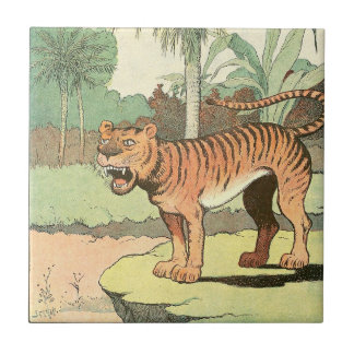 Guión del tigre azulejo cuadrado pequeño