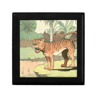 Guión del tigre joyero cuadrado pequeño