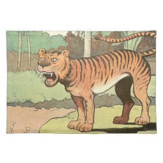 Guión del tigre mantel individual