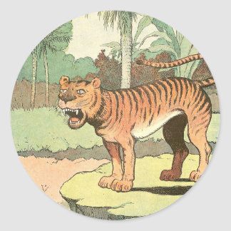 Guión del tigre pegatina redonda