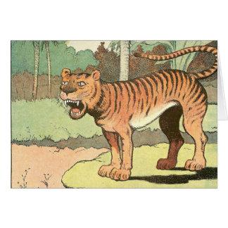 Guión del tigre tarjeta de felicitación