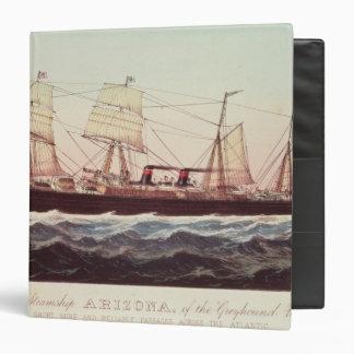 Guion Line Steamship Arizona Binder