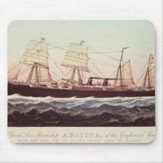 Guion Line Steamship Arizona Mouse Pad