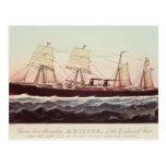 Guion Line Steamship Arizona Postcard