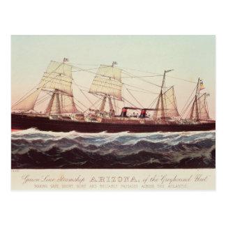 Guion Line Steamship Arizona Postcards