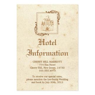 Guión real - tarjeta de los alojamientos plantilla de tarjeta personal