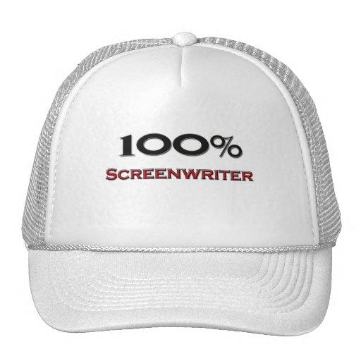 Guionista del 100 por ciento gorra