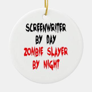 Guionista del asesino del zombi adorno