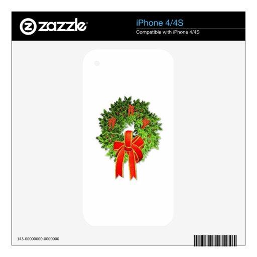 Guirnalda 1 del navidad calcomanía para iPhone 4