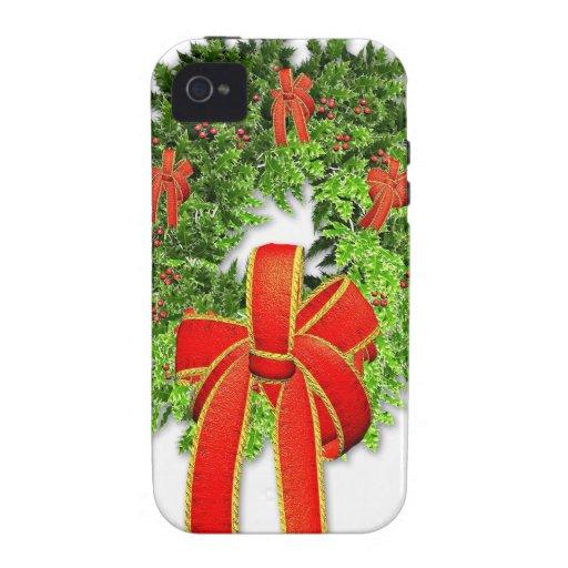 Guirnalda 1 del navidad Case-Mate iPhone 4 fundas