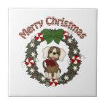 Guirnalda adorable del perro del día de fiesta del azulejo ceramica