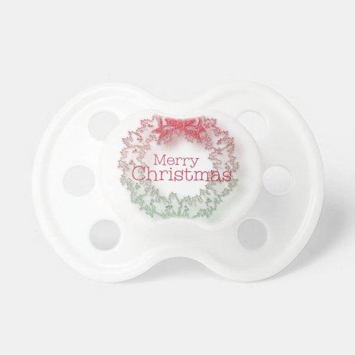 Guirnalda artística del navidad chupete de bebé