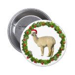 Guirnalda blanca del navidad de la alpaca pins