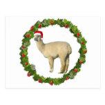 Guirnalda blanca del navidad de la alpaca postal