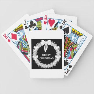 Guirnalda blanca y negra de Navidad Barajas De Cartas