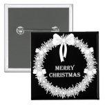 Guirnalda blanca y negra de Navidad Pin