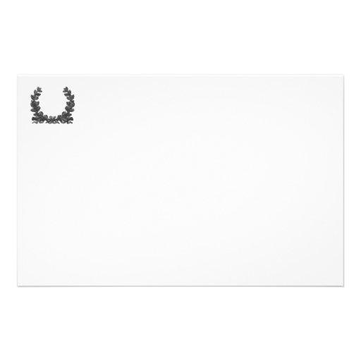 Guirnalda blanco y negro con una cinta papeleria personalizada