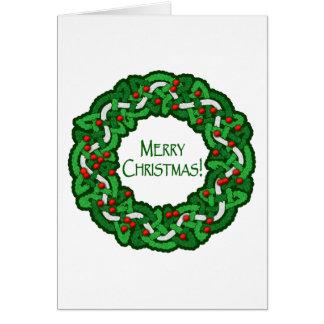 Guirnalda céltica de las Felices Navidad Tarjeta De Felicitación