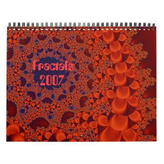 Guirnalda de cobre, fractales, 2007 calendario de pared