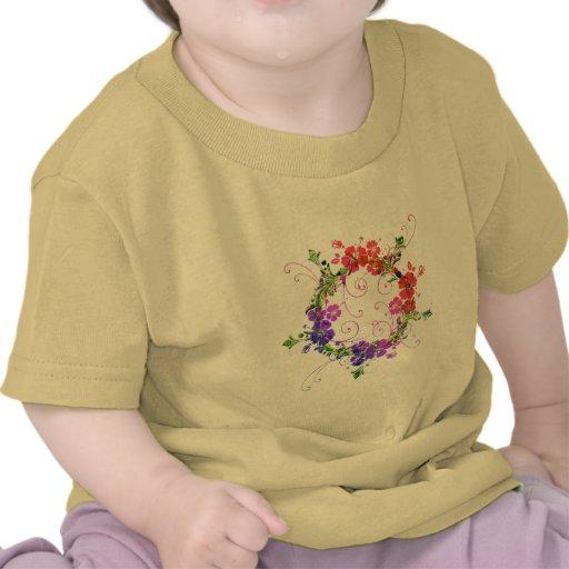 Guirnalda de flores camisetas