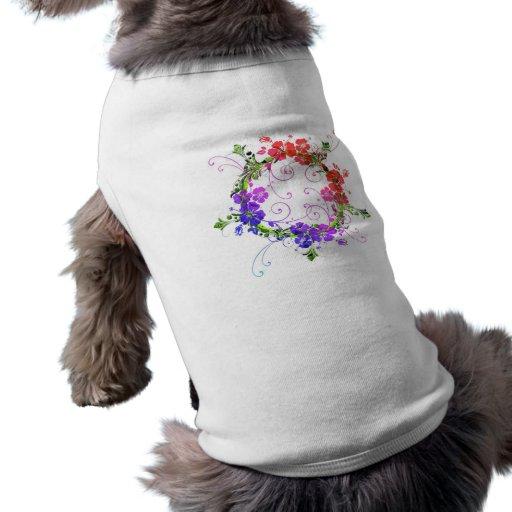 Guirnalda de flores ropa para mascota