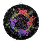 Guirnalda de flores tabla dardos